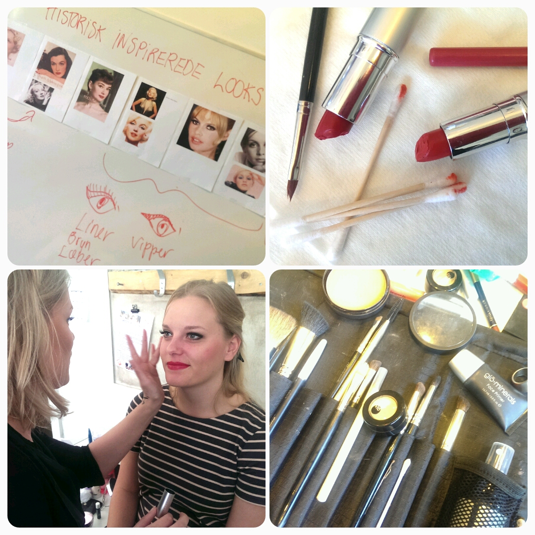 Historisk inspirerede makeup look på modul 3