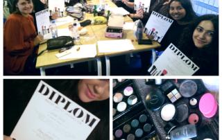 Nu har de diplom på deres evner som makeup artist
