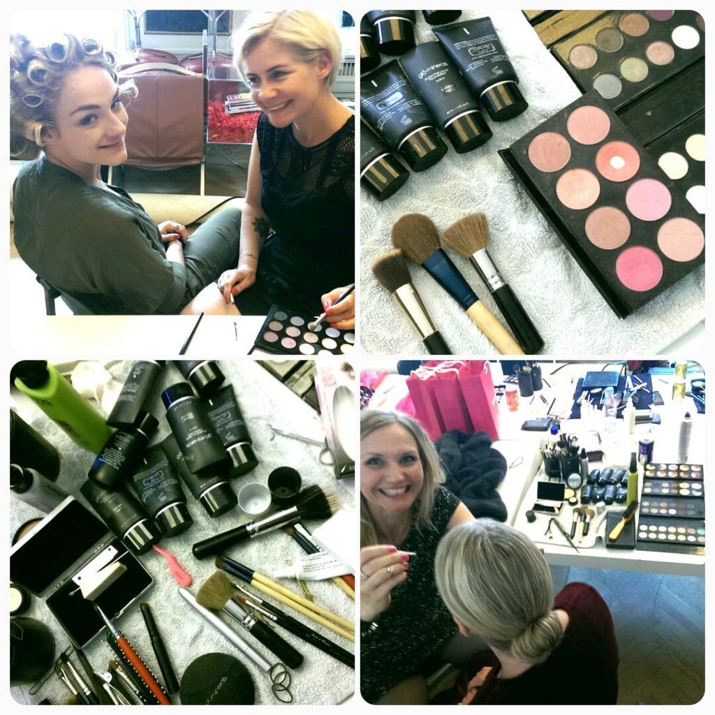 makeup til show på Cph Fashionweek