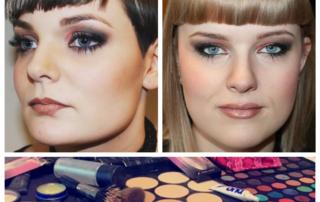 Makeup artist på fotoshoot