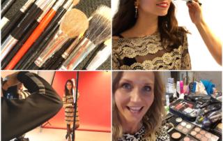 Makeup artist på fotoshoot og fashionshow